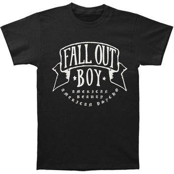 Fall Out Boy Men's  American Beauty T-shirt Black Rockabilia