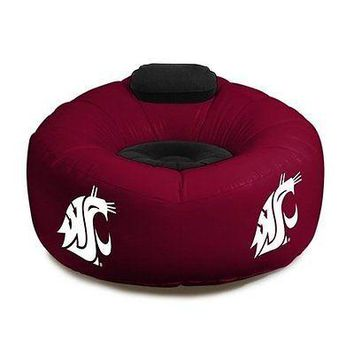 Washington State Cougars Large Inflatable CHAIR w/ Pump