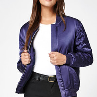 Kendall and Kylie Quilted Sleeve Bomber Jacket at PacSun.com