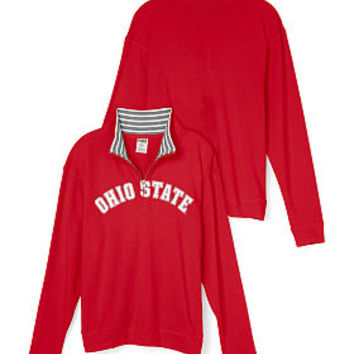Ohio State University Boyfriend Half-Zip - PINK - Victoria's Secret