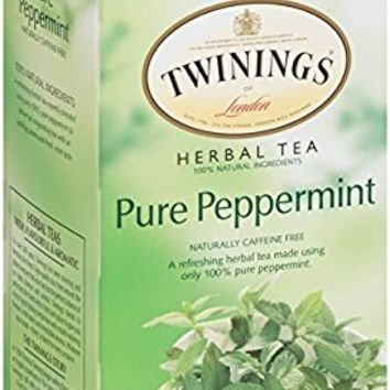Pure Peppermint Herbal Tea, 1.41 Ounce Box, 20 Count