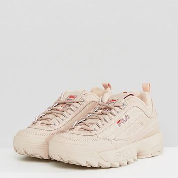 Fila Disruptor Low Trainers In Nude at asos.com