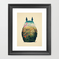 Tonari no Totoro Framed Art Print | Print Shop