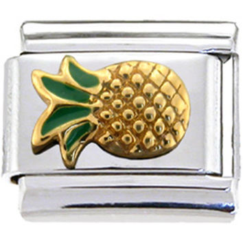 Gold PINEAPPLE Italian Charm