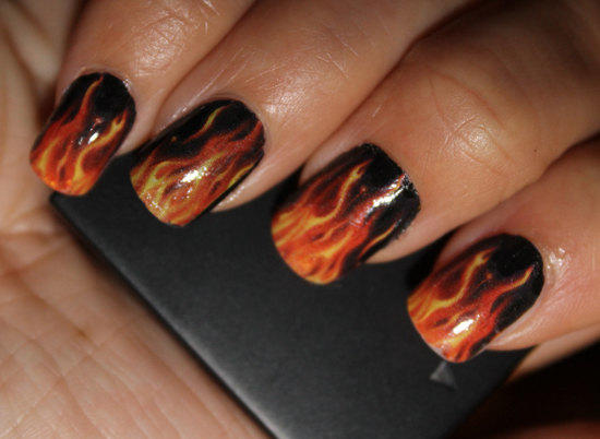 Real Flames Full Nail Decals Harley From Northofsalem On