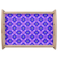 Purple Infinity Signs Abstract Blue Violet Flowers