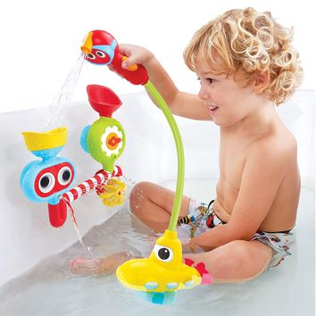 Baby Safe Submarine Spray Station Battery Operated Water Pump with Hand Shower Bath Toy