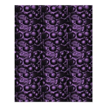 """Purple/Turquoise Pebbled Glam Scrapbook Paper 4.5"""" X 5.6"""" Flyer"""