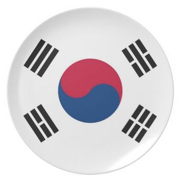 South Korea Flag Plate