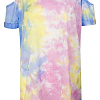 COLD SHOULDER TYE DYE TOP