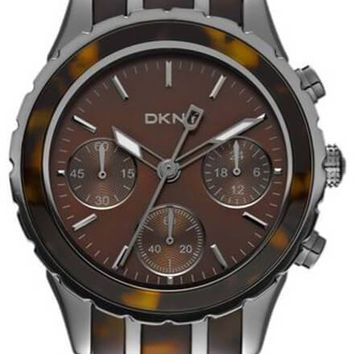 DKNY Brooklyn Chronograph Steel Resin Brown Women's Watch NY8709