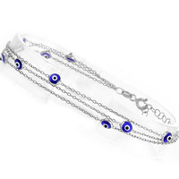 Triple Band Evil Eye Bracelet
