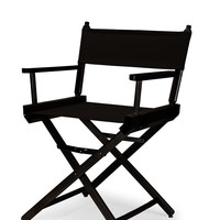 Black Heritage Director Chair - Dining Height - Black Cover