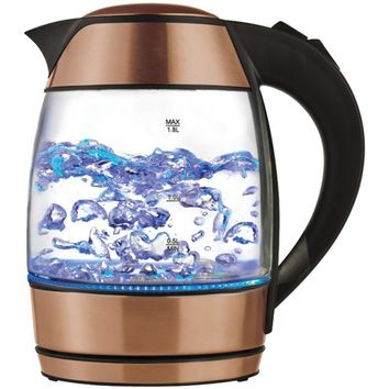 Brentwood Appliances KT-1960RG 1.8-Liter Electric Glass Kettle with Tea Infuser