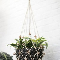 "Decorative Jute Macrame Plant Hanger - 34"" Long"