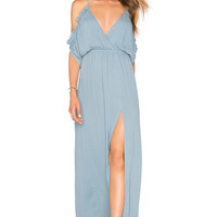 Lovers + Friends Effortless Maxi Dress in Dusty Blue | REVOLVE