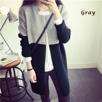 Block Sleeve Woolen Coat
