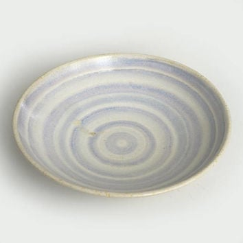 Porcelain serving bowl, lavender blue bowl, handmade, blue ceramic bowl