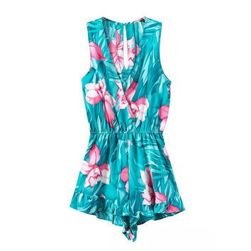TURQUOISE PLAYSUIT