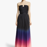 Halston Heritage Strapless Ombre Gown