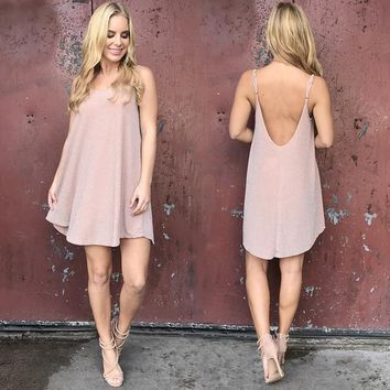 All That Shimmers Dress In Blush Pink
