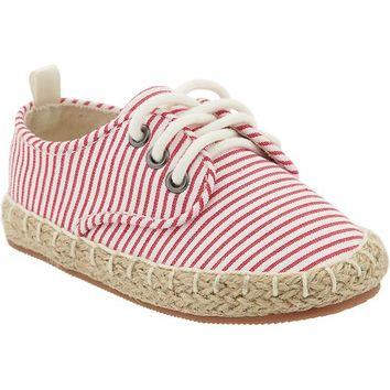 Old Navy Patterned Lace Up Espadrilles For Baby
