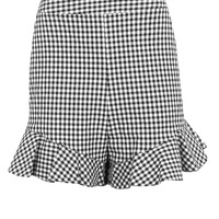 Gingham Frill Shorts