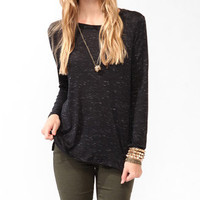 Long Sleeve Space-Dyed Top