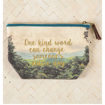 Natural Life Zipper Pouch - One Kind Word
