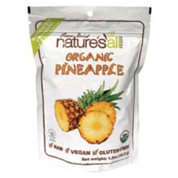 Nature`s All Foods Freeze Dried Raw Pineapple -12x1.5 Oz-