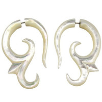 Ohm - Steel Pin Cheaters - Mother Of Pearl Earrings