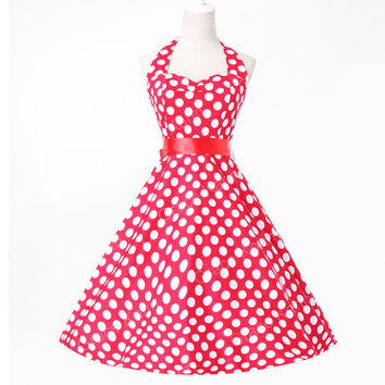 Summer style Womens party Dress 2017 retro 60s Pin up plus size clothing retro Casual swing vestidos 50s Vintage Plaid dresses