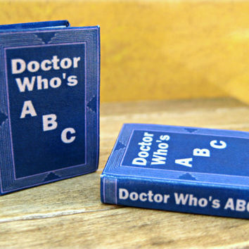 Doctor Who's ABC Book: A miniature alphabet book by LittleWooStudio on Etsy