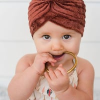 Baby + Girls' Velvet Turban