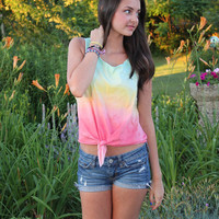 Tri-Color Sunset Ombre Tank
