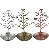Retro Earring Ring Jewelry vintage Bird Tree Stand Display Organizer Holder Show Rack Jewelry Holder Ring Display Hot Selling
