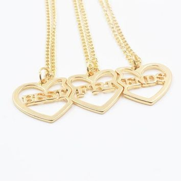Gold Broken Heart 3 Parts Best Friends Forever Pendant Necklace Necklaces Jewelry For Women Girl Friend