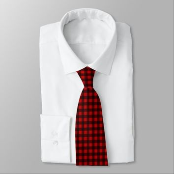 Basic Buffalo Check Black & Red Neck Tie
