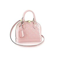 Louis Vuitton Monogram Vernis Leather ALMA BB Cross-Body Carry Handbag Article: M50415 RoseBalleria