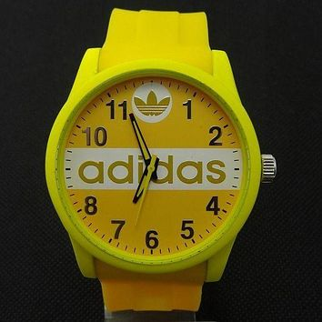 ADIDAS Ladies Trending Men Fashion Quartz Watches Wrist Watch Yellow G