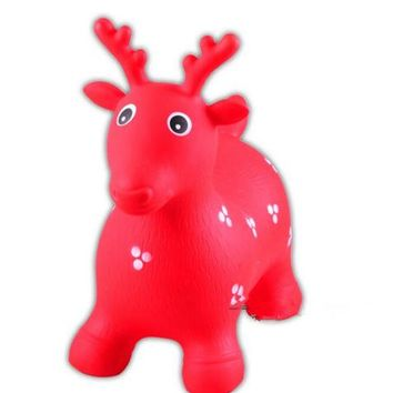 Little Fawn Hopper Ride-on Bouncer Toy Inflatable Toy Toddler Kids Red