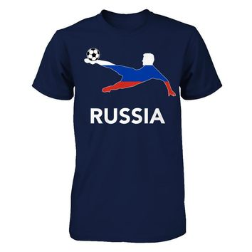 Russia Soccer Team T-shirt Men