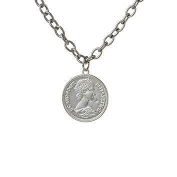 Rave Lucky Pence Silver Necklace