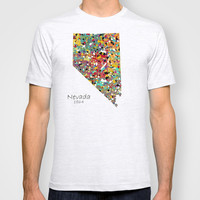 Nevada state map T-shirt by bri.buckley