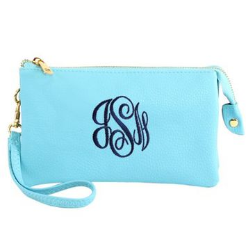 Liz Wristlet Crossbody - Mint