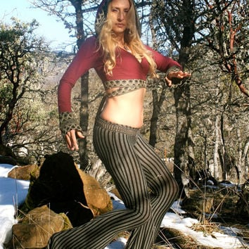Flared Leg Pant, great for Tribal Belly Dance, Yoga, Hoop, Burning Man, Festivals