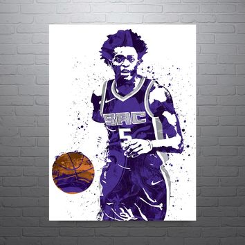 De'Aaron Fox Sacramento Kings Poster