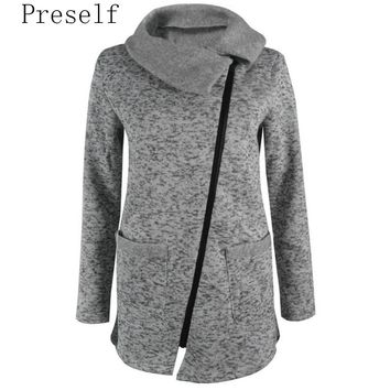Fleece Slant Zipper Jacket