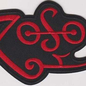 Led Zeppelin Iron-On Patch Red Zoso Logo
