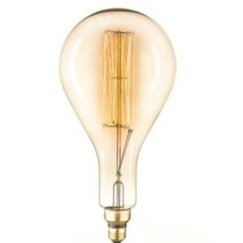 Edison Filament - Edison Antique Vintage Oversize Light Bulb - 1 Pack - Medium size.  -   - 60 wattage - E26 - 3,000 hrs of life. 160 Lumens